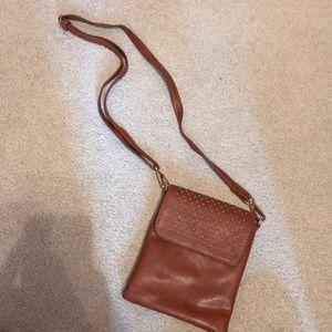 Handbags - Brown studded crossbody!